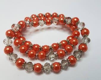 Stretch Bracelets Glass Pearls