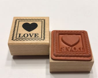 small love postage stamp rubber stamp, 20 mm (BB4/3)