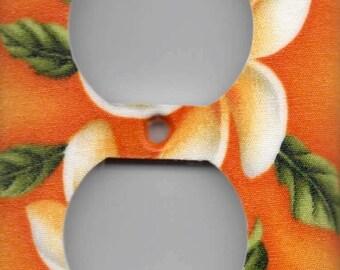 Hawaii Plumeria Single Outlet  Plate