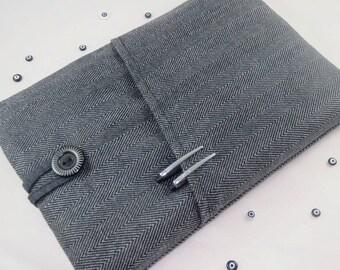 İpad Sleeve Mini Cover Case, iPad Mini Sleeve, iPad Mini Cover, New iPad Mini 3 case, Padded, Pocket,Nexus 7 Sleeve,Note 8 - Herringbone