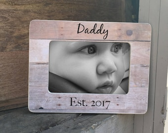Father's Day Gift New Daddy Father's Day Gift  Frame First Father's Day Frame Personalized Picture Frame