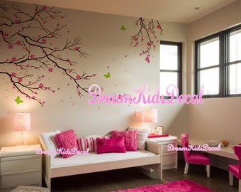 Cherry Blossom Tree wall decals nursery wall decals children girl baby wall decals wall sticker wall decor-DK073