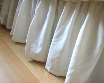 Ready-Made Gathered Organic Bedskirt, Bedding, Twin Hemp Cotton