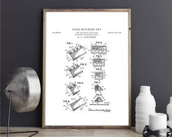 Building blueprint etsy lego building set patent print art vintage printable patent poster artwork drawing instant digital malvernweather Gallery