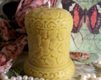 Beeswax Oriental Leaf Design Candle