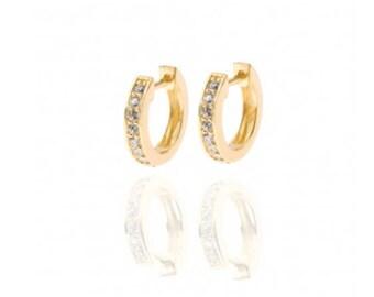 Cubic Zirconia hoop earings, small hoop earrings, Hoop earrings, minimalist hoop earrings, Gold hoop earrings, minimalist jewelry