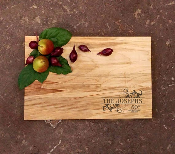 Personalized Anniversary Cutting Board - Personalized Anniversary Gift - 50th Anniversary Gift - 25th Anniversary Gift - Anniversary Board