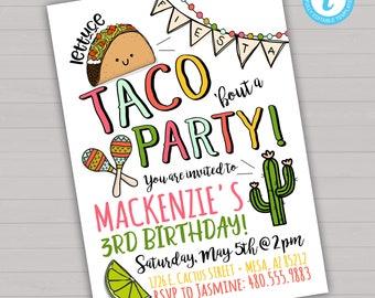 Taco Birthday Invitation Taco Invitation Fiesta Birthday Invitation Editable Fiesta Invitation Cinco De Mayo Invitation Taco Party Invite