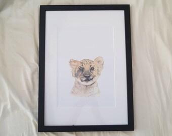 LION CUB  Childrens print