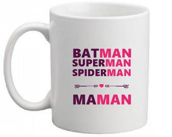"""SUPER HERO MOM"" CERAMIC MUG"