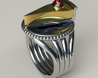 Cheesecake Ring - Solid 92.5 Sterling Silver - Any Size