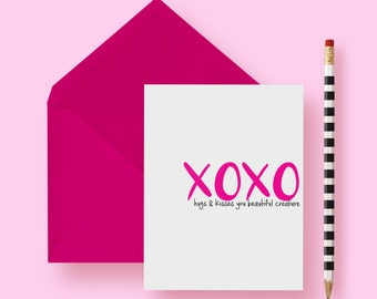 Funny Love Card | Greeting Card | XOXO | Hugs & Kisses | Valentine's Day | Love | Anniversary | A2