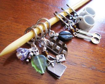 Coffee, Cocoa, or Tea for Two - Non-Snag Stitch Markers for Knitters and Crocheters