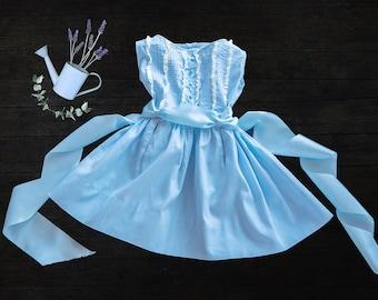 Vintage Girls Blue Dress - 1950s - size 3