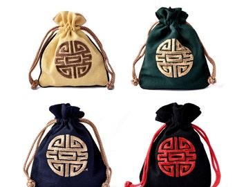 Fine Cotton Pouch/Jewelry Bag/Gift Bag Wholesale-WEN37730122596-GVN
