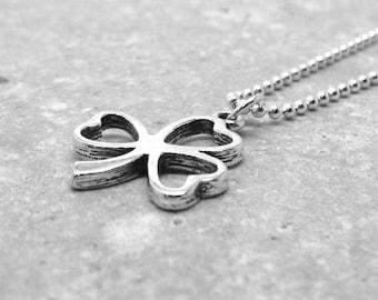 Shamrock Necklace, Shamrock Jewelry, Shamrock with Hearts, Clover Necklace, Shamrock Pendant, Sterling Silver Jewelry, Clover Charm Necklace