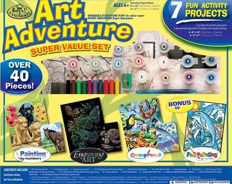 Art Adventure Super Value Art Set - 7 Projects - Great Gift for all Ages