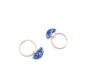 Porcelain Hoop earrings