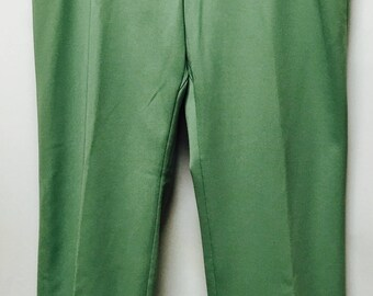 Vintage Haband Of Paterson Green Pants size 42W/31L