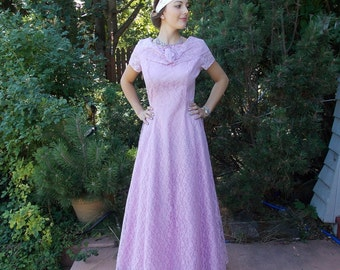 Vintage 1950's Lavender Lace Bridesmaid Dress Orchid Pink 'New Look' 40's / 50's style 1 of 4 Gowns 'Discount'  with purchase  of 2 or 4