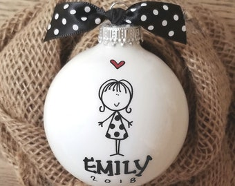 Girl Ornament, Personalized Girl Ornament, Ornament for Girl, Girl Christmas Ornament Personalized, Peraonalized Girl Ornament, Girl Gift
