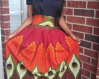 African skirt, African print skirt, African maxi skirt, Ankara, Ankara maxi skirt, dashiki, African long skirt, African fashion, Womens
