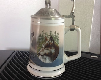 Timber wolf tankard collection