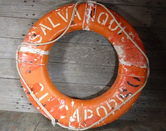 vintage life preserver ring buoy Kisby ring SAL Vanquish Singapore 30""