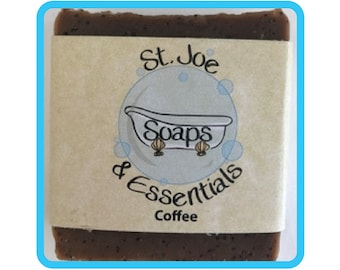 Coffee Soap, Handmade Soap, All Natural Soap, Organic Saponified Olive Oil, Coconut Oil, Shea Butter, Fragrance Oil