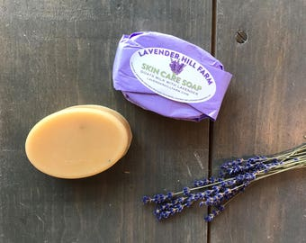 Lavender Soap | Lavender Goats Milk Soap | All Natural Soap | Organic Soap | Bridal Shower Favors | Face Soap | Baby Soap | Goats Milk Soap