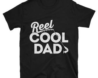 Funny Fishing Shirt - Reel Cool Dad Shirt - Gift For Fisherman - Fathers Day T-Shirt