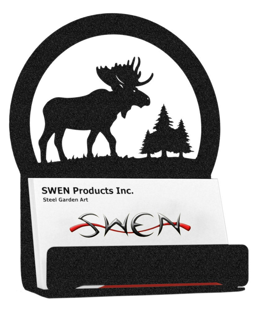 Moose Metal Business Card Holder