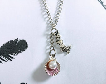 Little Mermaid Pendant Necklace