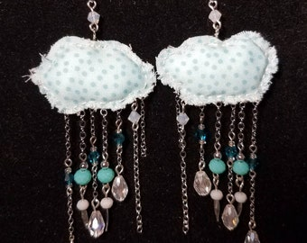 Fluffy Cloud Earrings