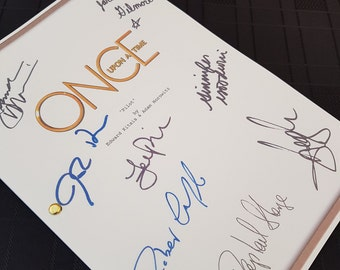 Once Upon a Time TV Script with Signatures / Autographs Reprint OUAT Unique Gift Christmas Xmas Present Film Movie Fan Geek Disney Hook