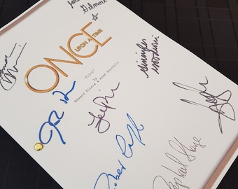 Once Upon a Time TV Script with Signatures / Autographs Reprint OUAT Unique Gift  Screenplay Present Film Movie Fan Geek Disney Hook