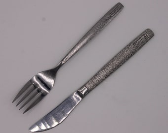 United Airlines Stainless Knife and Fork