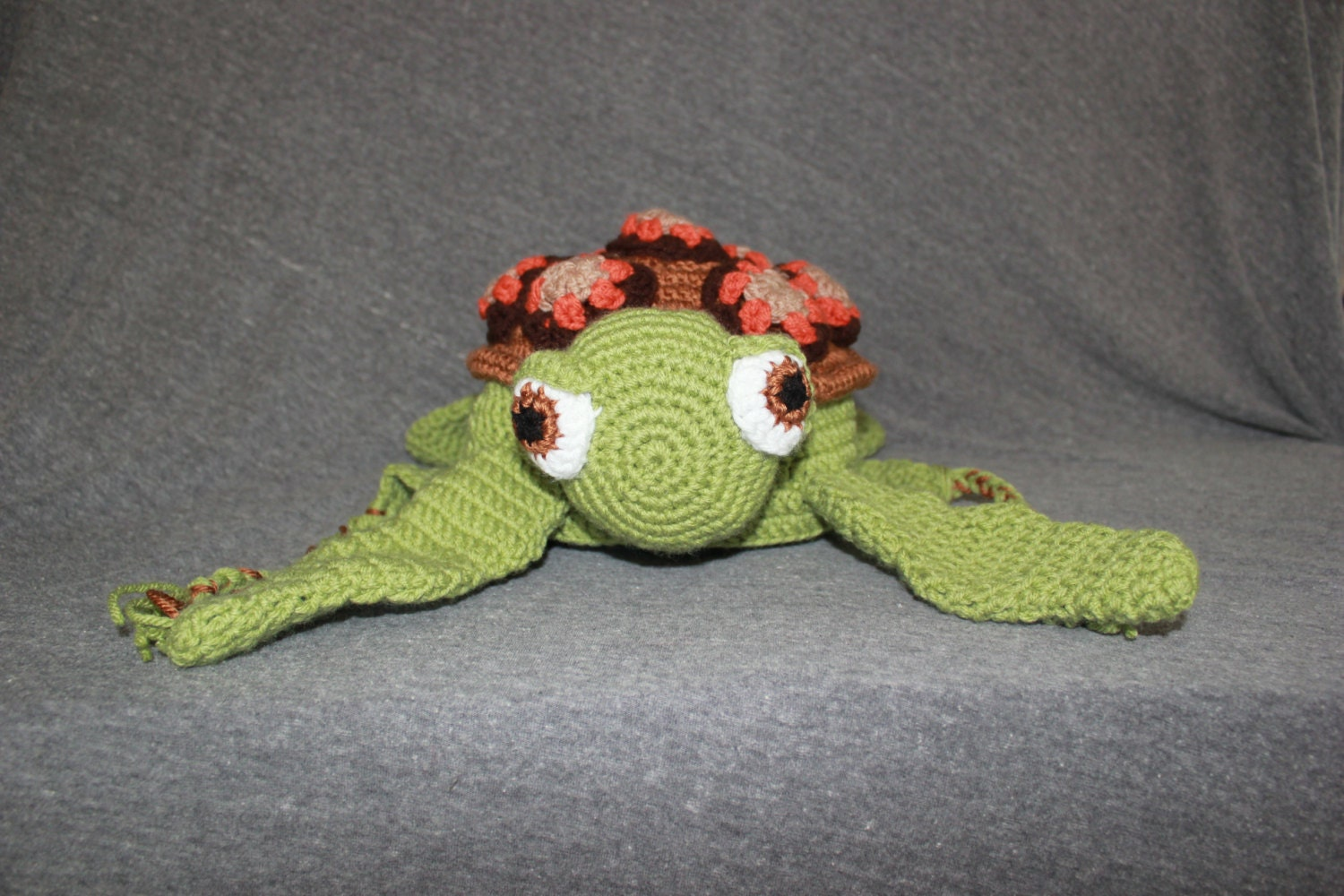Crush/ Squirt Sea Turtle Crochet Hat with Earflaps PATTERN, Turtle ...