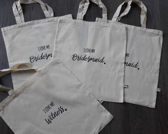 Tote bag for your bridesmaids and witnesses