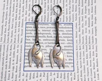 Swan Earrings - Antiqued Brass Dangle Earrings (Ready to Ship)