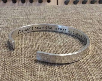 Sterling Silver Mom Bracelet, Personalized Grandma Cuff, Inspirational Quote Bracelet, Personalized Saying Bracelet, Anniversary Gift