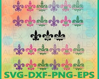 70% OFF, Fleur De Lis SVG, Split Frame Fleur De Lis, Fleur De Lis Svg Files, Dxf,Png,Eps File,Fleur De Lis Monogram SVG, Silhouette