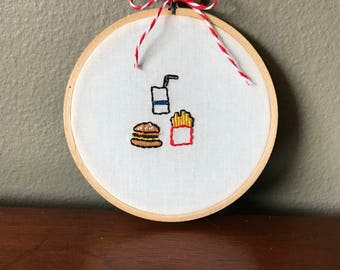 Fast Food Embroidery