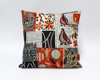 Mid Century Decorative Pillow Cover | Birds Decor | Cushion Cover | Pillow Case | Handmade by EllaOsix