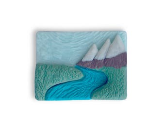 Hand Sculpted Soap Landscape || Bathroom Decor || Gift For The Traveler || Road Trip RV Life || Scenic Fancy Soap || Kitchen Sink Art