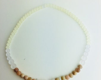 Moonstone Birthstone necklace, June birthstone, 17 inches