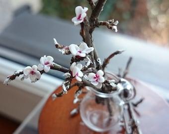 Miniature cherry blossoms, 1:12 scale