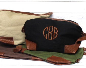 Men's Monogram Dopp Kit - Personalized Dopp Kit - Toiletry Bag - Men's Travel Bag - Monogram Travel Bag - Shave Kit - Graduation - Groomsmen
