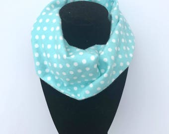 Boxing Day Sale ~ Aqua Baby Infinity Scarf - Aqua Toddler Infinity Scarf - Aqua Scarves - aqua polka dot- Scarves for boys