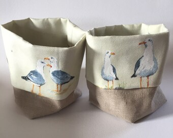 Coastal fabric storage/organiser basket